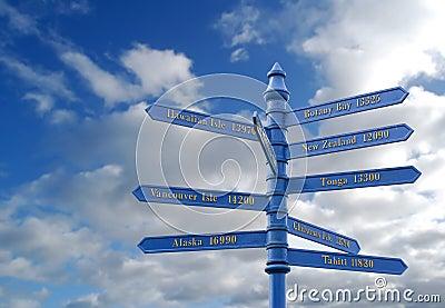 Worldwide travel destinations