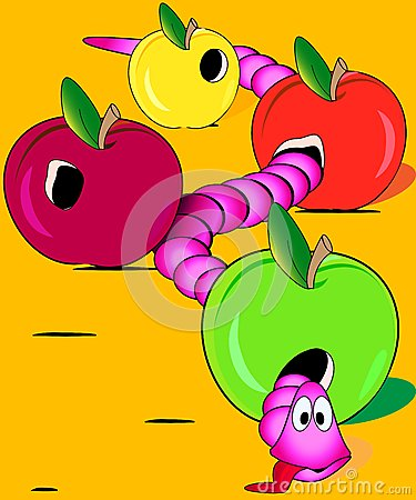 Worm overate the apples