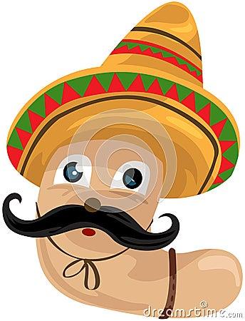 Worm with sombrero