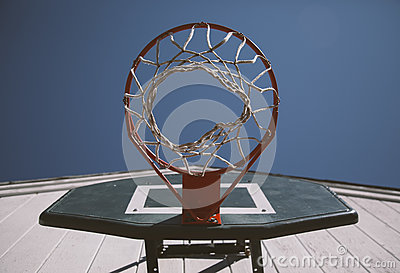 Worm's Eye View Of Orange And Black Basketball Hoop Free Public Domain Cc0 Image
