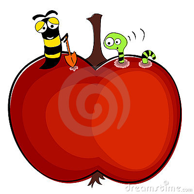 Free Worms And Apple Illustration Royalty Free Stock Photography - 10794507