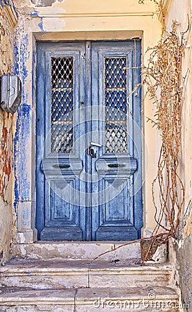 Free Worn Blue Door Stock Photos - 53948133