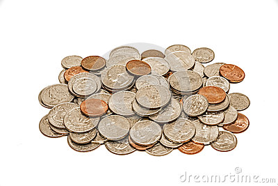 Worn And Dirty Pile Of Coins