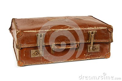 Worn old suitcase
