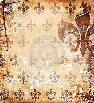 Worn ornamental background