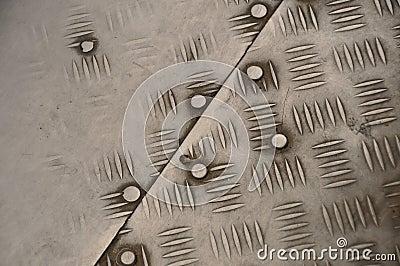 Worn out Iron diamond plate