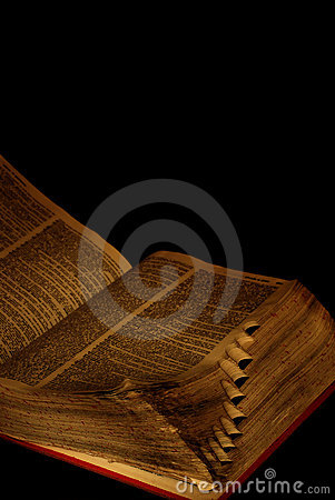 Worn pages of book