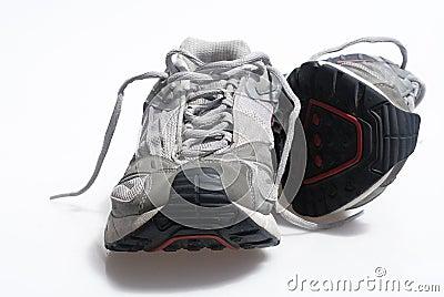 Worn sneaker trainers