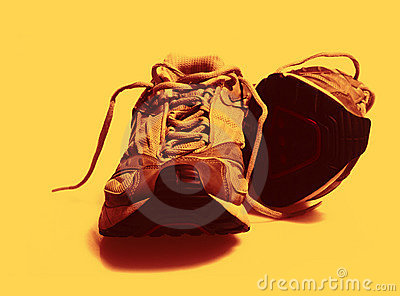 Worn Sneakers Trainers color toned