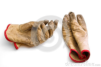 Worn and Weathered Gloves