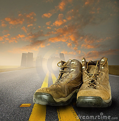Free Worn Work Boots Royalty Free Stock Photography - 7429467