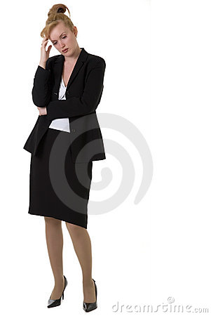Free Worried Business Woman Stock Photography - 721592
