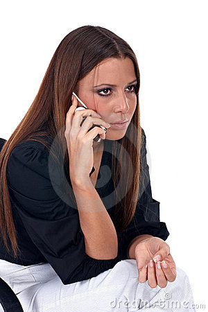 Worried businesswoman