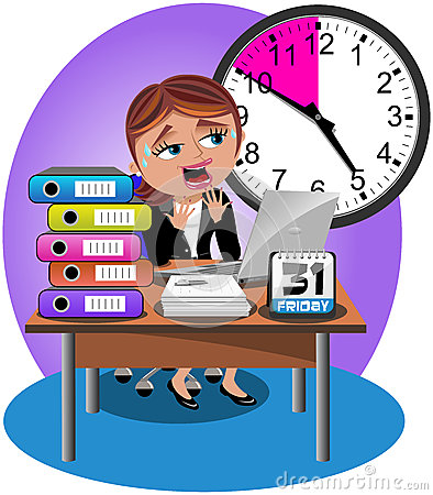 Free Worried Businesswoman Deadline Office Royalty Free Stock Photo - 41783205