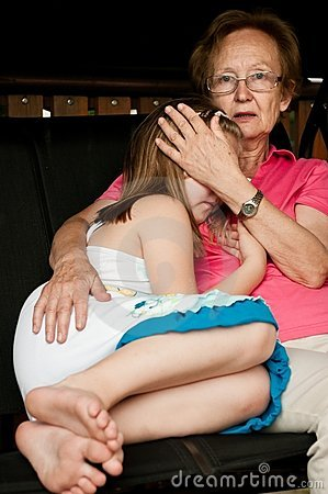 Worried - comforting child