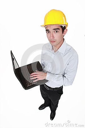 Worried engineer