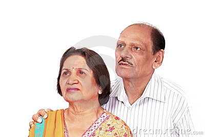 Worried indian couple
