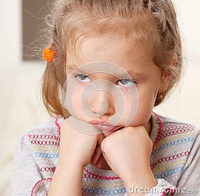 Worried little girl
