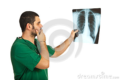 Worried radiologist man