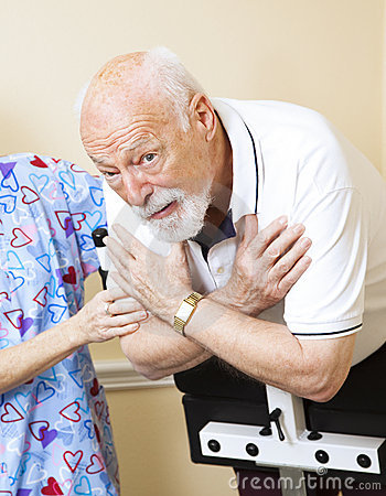 Worried Senior Doing Physical Therapy