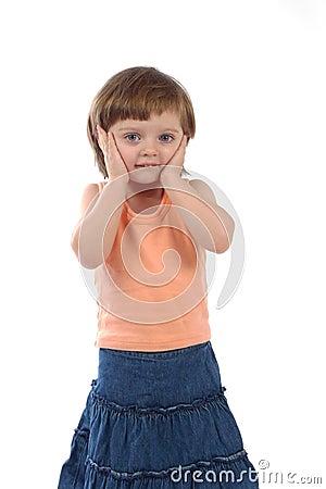 Free Worried Three Years Old Girl Stock Image - 12552281