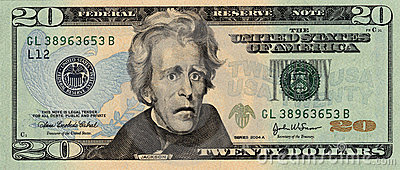 Worried Twenty Dollar Bill
