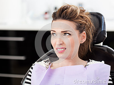 Worried woman patient waiting to be checked up at