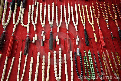 Worry beads display