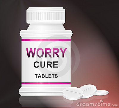 Worry cure concept.