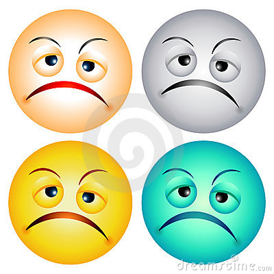 Worry Faces Royalty Free Stock Images - Image: 3282179