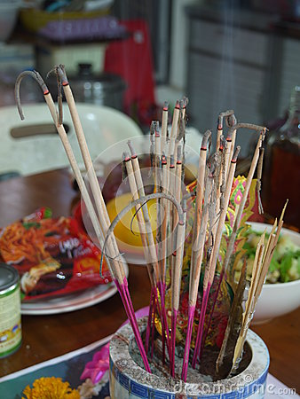 Worship by incense in chinese belief