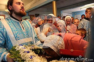 Worship of shrine Editorial Photo