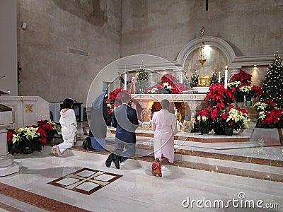 Worshiping Jesus Christ Editorial Stock Photo