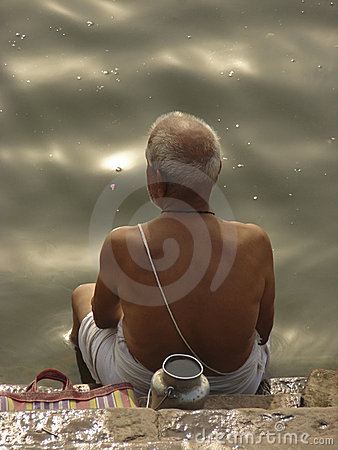 Worshipper on Ganga River