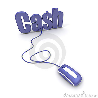 Wort-Bargeld angeschlossen an eine Computermaus
