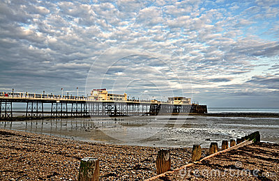 Worthing pier and shingle beach