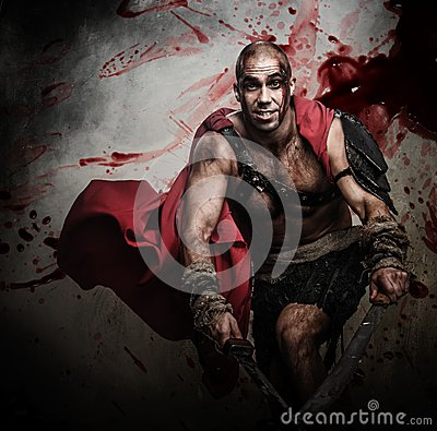 Wounded gladiator