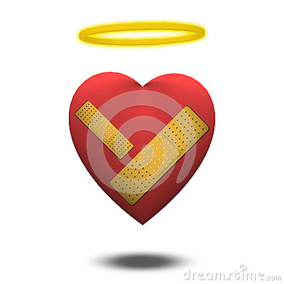 Free Wounded Good Heart Stock Photography - 28576702
