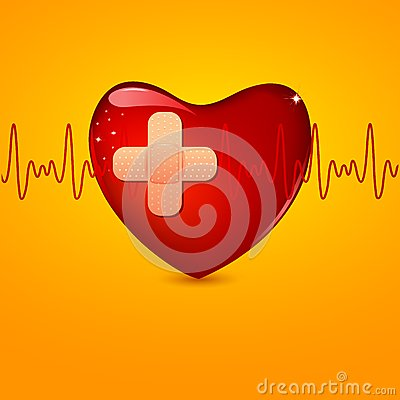 Free Wounded Heart Royalty Free Stock Photos - 24686358