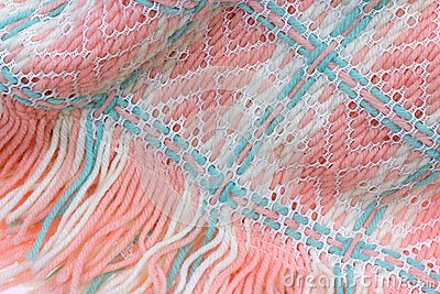 Woven Baby Blanket up Close