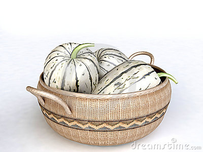 Woven Basket Full of Juicy melons