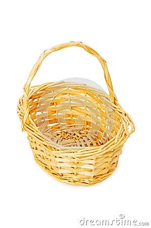 Woven basket isolated