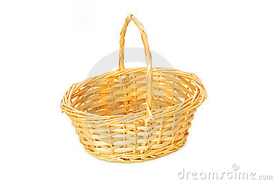 Woven basket isolated