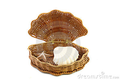 Woven basket and soap