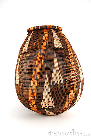Woven closed basket from Botswana