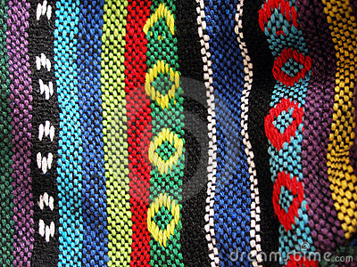 Woven ethnic fabric, close up