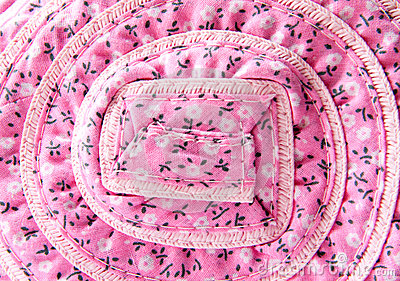 Woven fabric with flower pattern