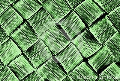 Woven pattern green brush texture