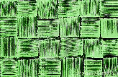 Woven pattern green brush texture