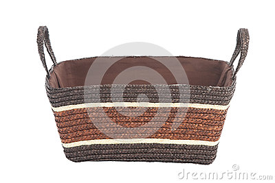 Woven straw basket